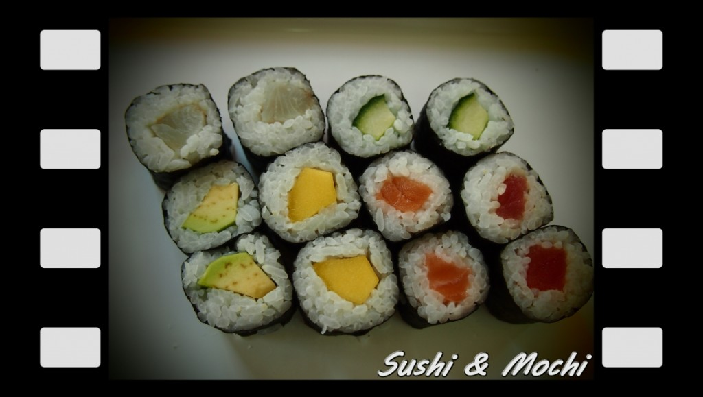 Хосо Маки (сьомга, риба тон, лаврак, авокадо, краставица, манго) 150 г. / 12 бр. - 6.90 лв.